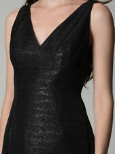 "Brand NWT $498 Elie Tahari ""Rosie"" BLACK Metallic Cocktail Sheath Dress Sz 2"