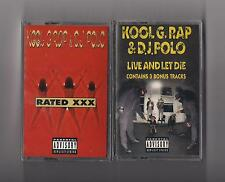 KOOL G RAP & DJ POLO - Lot of 2 Cassettes SEALED : Rated XXX & Live and let die