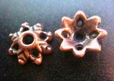Bead Caps Antique Copper Metal Leafy 9mm 20pcs