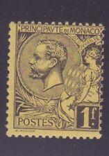 "MONACO N°20 "" ALBERT 1er 1F NOIR S.JAUNE "" NEUF xx TTB"