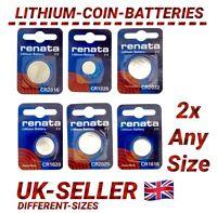 RENATA 3V LITHIUM COIN CELL BATTERIES CR 1025 1216 1220 1225 1616 2032 1632 UK