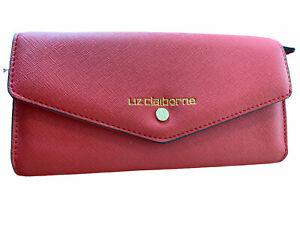 Liz Claiborne Red Envelope Wallet EUC Snap