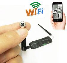 Wireless Spy Wifi Mini P2P Tiny Pinhole screw Webcam Nanny Camera 720P DV DVR
