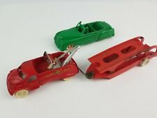 Lot vintage Plastic Toy cars Lapin Convertible Cadillac Acme Tow Truck & Hauler