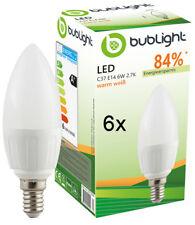 6 LED Birnen E14 warm weiss Sparlampe Kerze Glühbirne Glühlampe Leuchtmittel