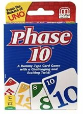 Phase 10 Rummy-Family Card Game with a Twist Mattel Ages 7+ FREE SHIPPING
