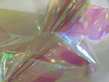 Nail art /holographic broken glass angel paper /foil Holo pink clearmeter length
