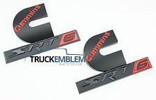 2 NEW MATTE BLACK CUSTOM DODGE RAM DIESEL SRT- 6 TURBO DIESEL EMBLEMS PAIR SET