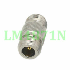 1pce Adapter N female to N female jack RF connector straight F/F