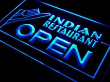 i643-b Indian Restaurant OPEN Food Cafe Neon Light Sign