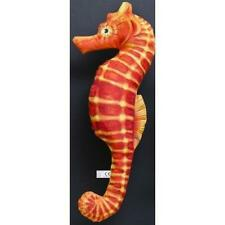 L 40 cm Mini Cuscino a forma di Cavalluccio marino Arancione