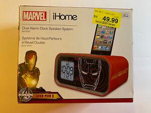 Marvel iHome Dual Alarm Clock Speaker System Iron Man 3