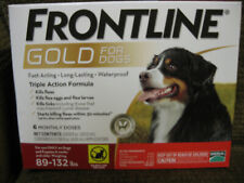 Frontline Gold Flea and Ticks Dog 89-132 lbs Red, 6 Monthly Doses