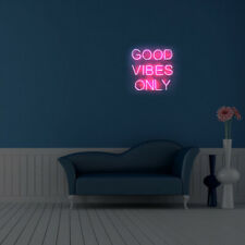 Good Vibes Only Beer Bar Pub Party Home Room Wall Dimmable Neon Signs 15x15