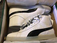 Men's Puma Mid Sneaker Basket classic mid white black 11