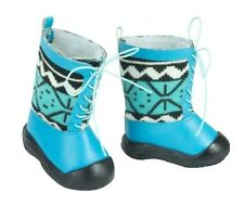 "Blue Lace-Up Winter Boots Shoes for Bitty Baby or 18"" American Girl Doll Clothes"