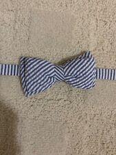 Nwt Boys Carter'S Adjustable Bowtie One Size Blue/White Stripe