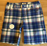 Cherokee Girls Kids Plaid Bermuda Shorts Pink White Blue Size Large 10/12