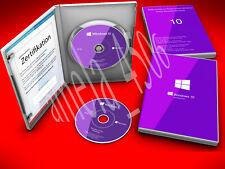 ★ Windows 10 Professional 64 Bit DVD + COA Key Code Deutsch Win Pro MS Windows ★