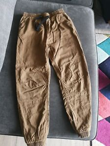 Boys Brown Cuffed Lined Trousers  Age 11-12 Good condition