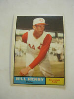 1961 Topps #66 Bill Henry Baseball Card, Good Cond (GS2-b3)