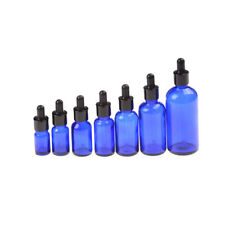 5 - 100ml Blue Empty Glass Bottle Pipettenflasche Dropper Amber Essential Oil  O