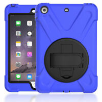 360° Kickstand Cover Blue Ipad Case Shell for Mini 1 2 3 Apple Tablet Shockproof