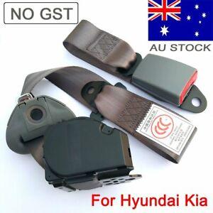 For Hyundai Kia 3 Points Cars Universal Seat Belt Retractable Seatbelt Dark Grey