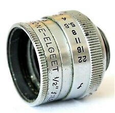 "Keystone ELGEET Lens 1/2"" f/1.9 - D-Mount Suitable For Paillard Bolex 8mm Camera"