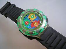 """Swatch Aqua-Chrono """"lillibeth"""" + nuevo + con una gran caucho pulsera!!!"""