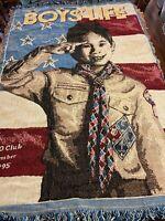 Boy's Life BSA Boy Scouts of America 150 Club Member 1995 Beacon Throw Blanket