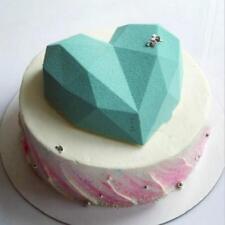 Diamond Love Heart Silicone Mold Chocolate Fondant Wedding Cake Decorating Tool