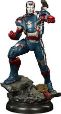 "IRON MAN 3 - Iron Patriot 1/4 Scale 22"" Maquette Statue (Sideshow) #NEW"