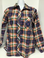 Ladies long sleeve casual button front shirt size M