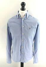 FILA Mens Shirt S Small Blue Cotton