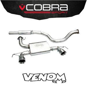 "Cobra Exhaust 2.5"" Cat Back System (Res) Vauxhall Corsa D Nurburg (10-14) VZ11G"