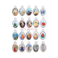 50Pcs Catholic Religious  Enamel Medals Charms  Pendants Holy Cross 21mm