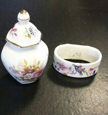 Hammersley Bone China Miniature  Ginger Jar and Bone China Napkin Ring