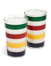 Hudson's Bay Company HBC Multi Stripe Glass Votive Candles