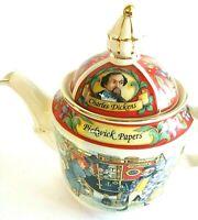 James Sadler England Tea Pot Charles Dickens Pickwick Papers Collectible Teapot
