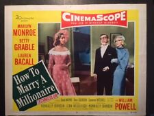 MARILYN MONROE VINTAGE ORIGINAL LOBBY CARD 5 FOR HOW TO MARRY A MILLIONAIRE 1953