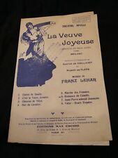 Partition La veuve joyeuse Lehar Romance de camille Music Sheet