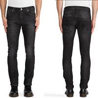 Nudie Unisex Herren Damen Skinny Fit Stretch Jeans Hose Tape Ted Black Briquette