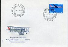 Schweiz 899 - FDC Luftpostverkehr 50 Jahre