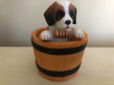 "Princeton Gallery ""Barrel of Fun"" Saint St Bernard Figurine - Dog in Barrel"