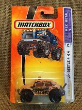 Matchbox 2005 MBX Metal Volkswagen Beetle 4x4 #74 Tan Camouflaged