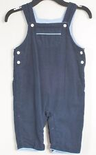 babyGAP Size 6-12 Months Boys Snap Crotch Fully-Lined Blue Corduroy Overalls