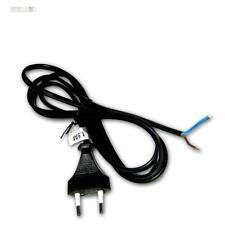 Euronetzkabel 1,5m schwarz Netzkabel Netzstecker 2polig