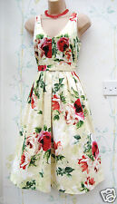 PAPAYA SIZE 14 SUMMER DRESS 50'S VINTAGE STYLE FLORAL SMART WEDDING US 10 EU 42