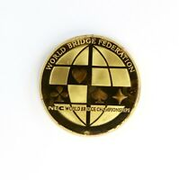 1994 World Bridge Federation Enamel Over Gold Plate On 1oz .999 Silver Round